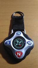 Brujula para el llavero Compass senderismo con anilla llaves o mochila NEGRO