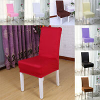 Stretch Pile Fabric Dining Room Wedding Kitchen Home Short Chair Seat Covers