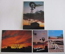 Three Postcards of Outback Australia - 1980s and 1990s