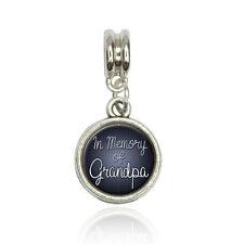 In Memory of Grandpa Euro European Italian Style Bracelet Bead Charm