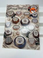 "1992 Counted Cross Stitch Pattern Book ""Porcelain Pretties"" 15 Designs 6697F"