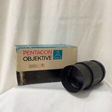 Pentacon Objektive Auto 135mm F/2.8 MC Lens M42 Mount With Original Box