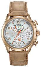 Citizen Eco-Drive Women's FC0003-18D Chronograph Beige Leather Strap 39mm Watch
