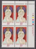 CANADA #1114 39¢ Christmas Angels UR Plate Block MNH