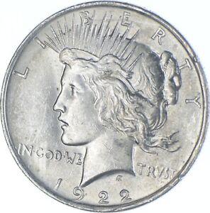 Choice AU/UNC 1922 Peace Silver Dollar - 90% Silver *217