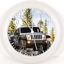 "Jeep Wrangler 10"" wall Clock E220 nice Gift or Room wall Decor NEW"