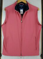 New $245 PETER MILLAR Small Crown Crafted Merino Wool Lined Windproof Vest NWT