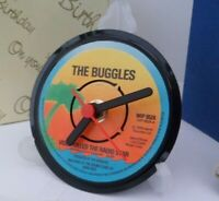 *new* THE BUGGLES RECORD CLOCK -  actual VINYL RECORD CENTRE Desk / Side Table