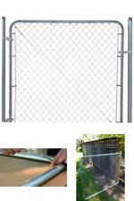 Chain Link Fence Gate 6 ft. x 4 ft. Galvanized Metal Adjustable Rust Resistant