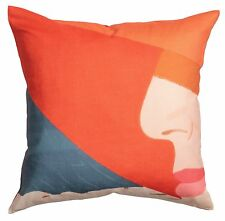 ALEX KATZ x H&M 'Orange Hat (Ada)' 1990/2016 Pillow / Cushion COVER 20x20 *NWT*
