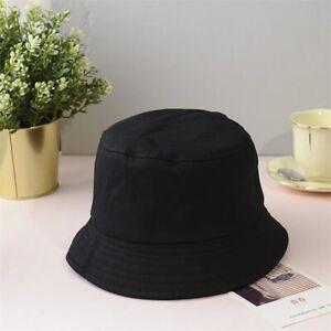 New Unisex Cotton Bucket Hats Women Summer Sunscreen Panama Hat Men Pure Color