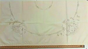 Printed Embroidery Projects on Cream Cotton - Table Cloths & Traditional Samples