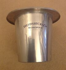 VINTAGE HEIDSIECK MONOPOLE CHAMPAGNE ICE BUCKET FRANCE METAL COOLER WINE BAR FUN
