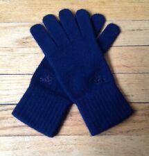 Vintage Burberry Cashmere Knit Gloves Authentic Burberrys Navy w/Prorsum Knight