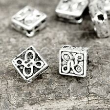 250- Tibetan Silver Square Beads Spacers Finding TS0241