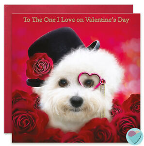 Valentine's Day Card TO THE ONE I LOVE to or from Bichon Frise Dog Puppy Lover