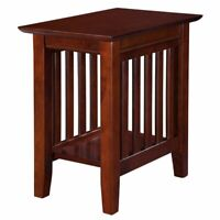 Atlantic Furniture Mission Chair Side Table in Walnut