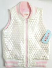 XL Girls Vest Pink White Pearl Sleeveless Cat & Jack New Spring Zip Up