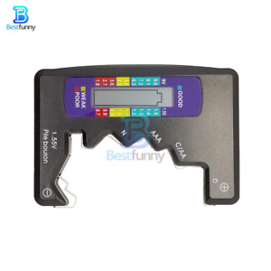 Digital Battery Tester Capacitance Diagnostic Tool Button Tester LCD Display