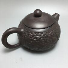 OldZiSha-Rare Chinese Yixing ZiSha Old Small ZhuNi Teapot For Brew Tea  174g 97