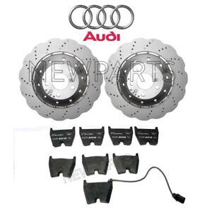 For Audi RS5 2013-2015 Set of 2 Drilled Vented Steel Brake Rotors & Pads Genuine