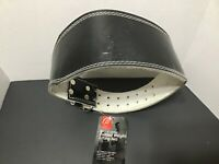 """Bally,Leather Weight Lifting Belt with Padded Back Support new men's 4"""" small"""