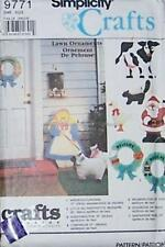 Uncut Simplicity Lawn Ornaments - Sewing Patterns S9771