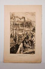 -gravure eau-forte Auguste LEPERE, Paris le quartier des Gobelins 1896 env.