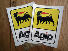 "ADESIVI AGIP successivamente stile Tall 4 ""PAIR CAR BIKE RACING F1 DUCATI ALFA FERRARI"