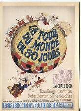 PICTURE POST CARD OF A MOVIE POSTER  AROUND THE WORLD IN 80 DAYS IN FRENCH