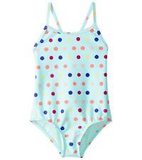 Roxy Toddler Girls 2/2T 1 Pc Swimsuit Rainbow Dots Aqua Beach Surf NWT