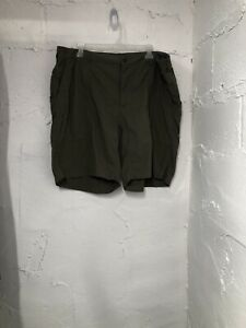 LL Bean Army Green Cargo Shorts Stretch Waist Outdoor Hiking Size XL 18-20