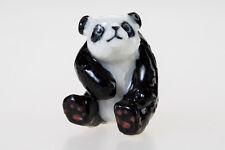Panda Ceramic Chinese Mascot Animal Miniature Cute Figurine Craft Decor Souvenir