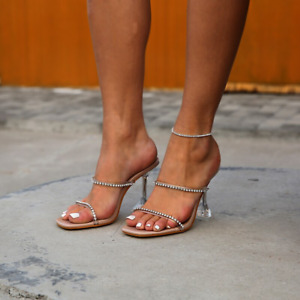 Women Summer Slip On Sandal Heel Open Toe Comfy Mules Sliders Fashion Shoes Size
