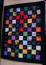 AF0103 HANDMADE MINI QUILT #6 Wall Art 1 Patch 9.5 x 12 inchs Patchwork Black