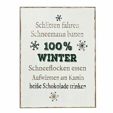 """Schild mit Text """"Schlittenfahren ..."""" - H ca. 40 cm"""
