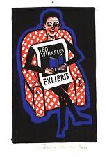 EX-LIBRIS de Leo WINKELER par Antoon Vermeylen. Belgique.