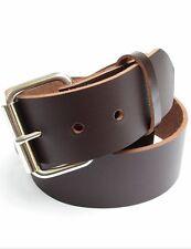 """Mens Heavy Duty Leather Belt 1 3/4"""" Wide Sizes 30 - 72"""