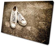 Vintage Lo Top Sneakers SINGLE DOEK WALL ART foto afdrukken