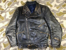 WW2 40's VTG GERMAN LUFTWAFFE LEATHER FLIGHT MOTORCYCLE JACKET - RES ZIPPERS