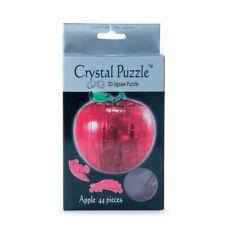 RED APPLE Brainteaser Interlocking 3D CRYSTAL JIGSAW PUZZLE 44 Pieces