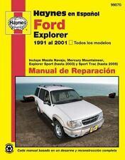 Haynes en Espanol Ford Explorer 1991 al 2001, Todos los modelos: Incluye Mazda N