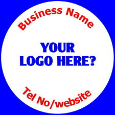 PERSONALISED GLOSSY BUSINESS NAME STICKERS, LABELS, YOUR LOGO AND TEXT