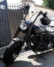 "Manubrio Artigianale King Ape Hanger Tubo da 1.3"" Vintage Nero Harley Davidson"