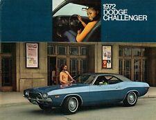 DODGE Challenger 1972 Stati Uniti Mercato PIEGA SALES BROCHURE ITALIANA di Rally