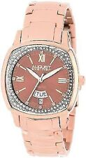 August Steiner Women's AS8016RG Day Date Diamond Swiss Quartz Bracelet Watch