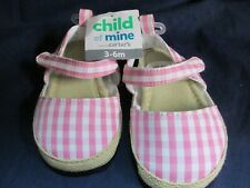 Child Of Mine By Carter Baby Girl Shoes. Size 0-3M