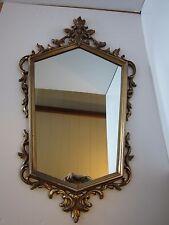 "Syroco Wall Mirror Hollywood Regency 1960 35 x 20 ½"" Retro Mid-century Vintage"