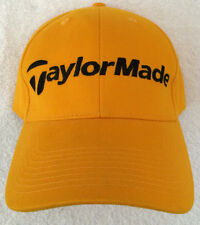 TaylorMade Golf Hat Baseball Cap Bright Yellow Adjustable Strap Gently Used