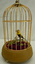 Vintage Eschle Automaton Animated Mechanical Singing Birdcage MusicBox Germany